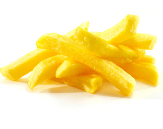 Pommes frites blanchies