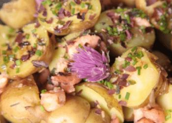 salade de pommes de terre a la fleur de ciboulette