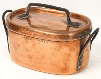 Ancienne braisière en cuivre