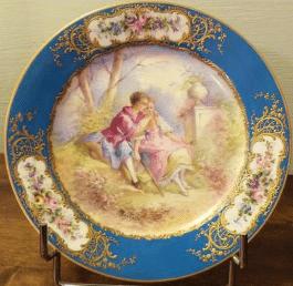 Assiettes en porcelaine de Sèvres