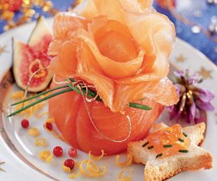 Aumônière au saumon et fromage frais