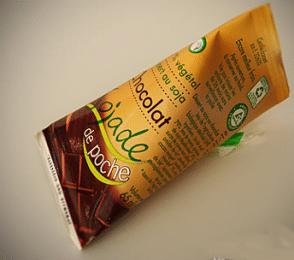 Berlingot de lait de soja au chocolat