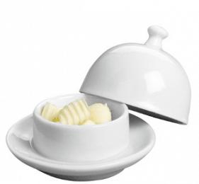 Beurrier cloche en porcelaine