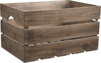 Caisse en bois vieilli