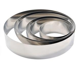 Cercles à pâtisserie en inox