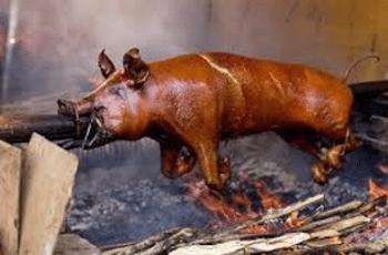 Cochon de lait rôti à la broche