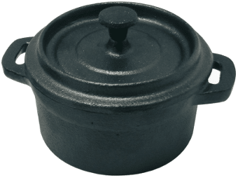 Cocotte en fonte ronde