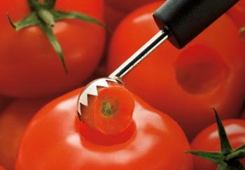 Couteau équeuteur à tomates