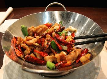 Cuisson au wok chinois