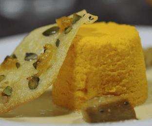 Dariole de potiron, sauce foie gras