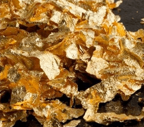 Paillettes de feuille d'or
