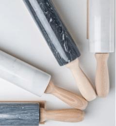 Rouleaux à pâtisserie en marbre