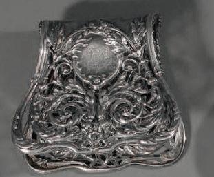 Ancienne pince à asperges en métal argenté
