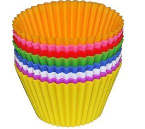 Caissettes à cupcake en papier multicolore