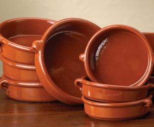 Plats en terre cuite espagnols (cazuelas)