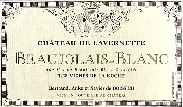 Étiquette de Beaujolais-Blanc Château de Lavernette
