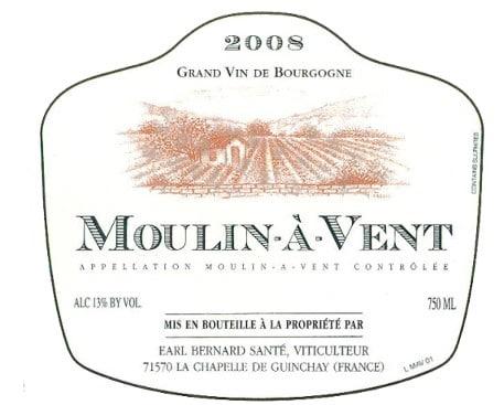 Étiquette de Moulin-à-vent 2008