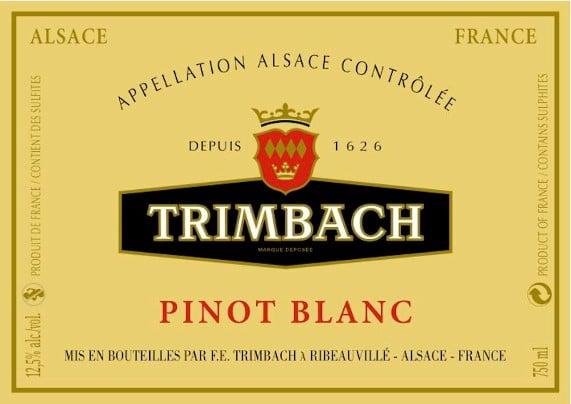 Étiquette de Pinot Blanc Trimbach