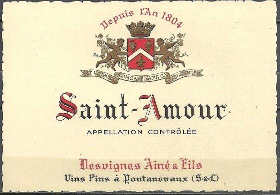Bouteille de saint-Amour