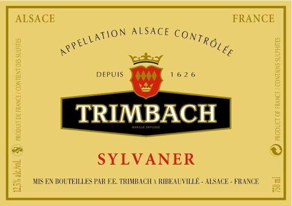 Étiquette de Sylvaner Trimbach
