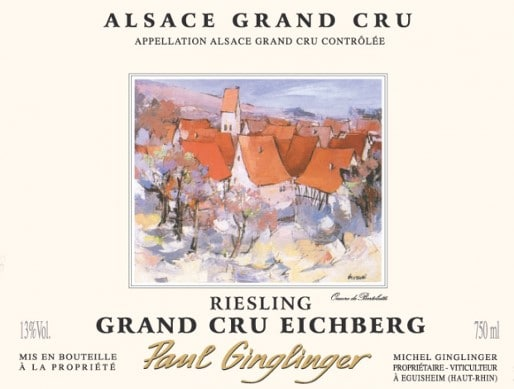 Étiquette Grand Cru Eichberg Riesling