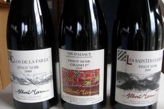 Pinot noir rouge Albert Mann 2009