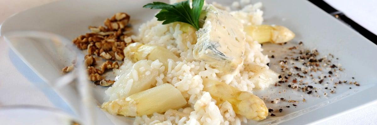 Risotto aux pointes d'asperges et gorgonzola