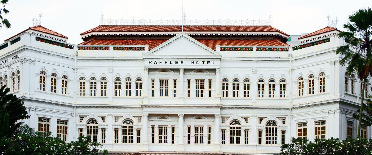 Façade du Raffles Hotel à Singapour