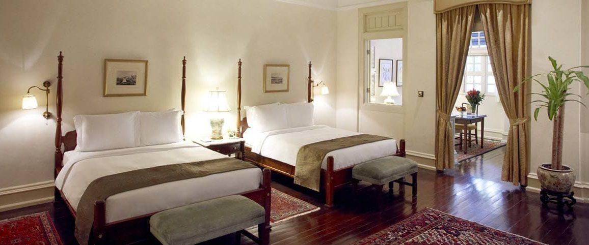 Une chambre double au Raffles Hotel à Singapour