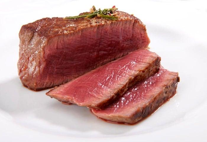 Pavé de bœuf saignant