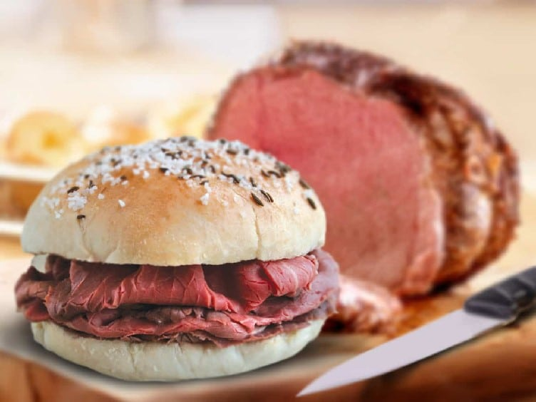 Sandwich beef on the weck