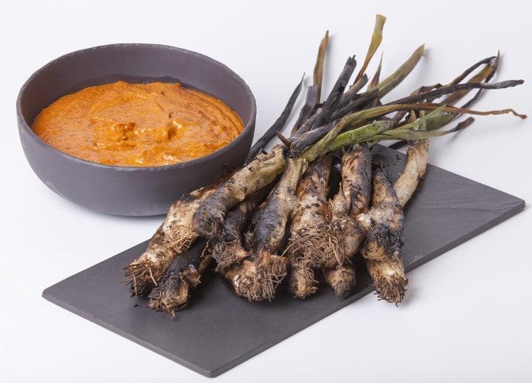 Ognasses grillés et sauce romanesco