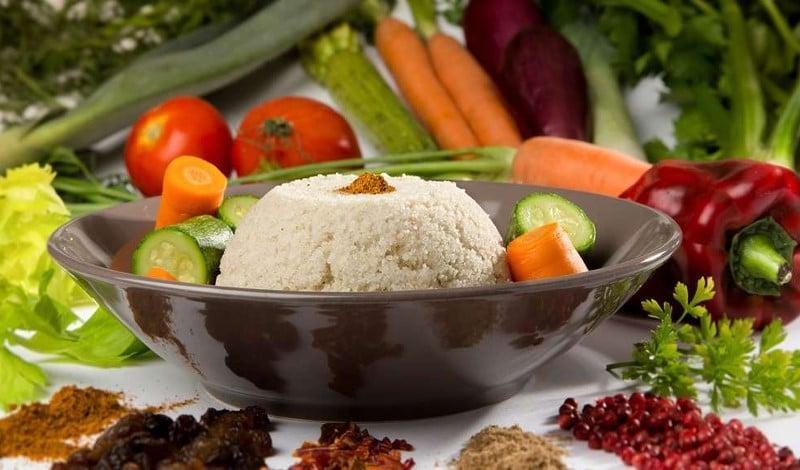 Plat de fonio aux légumes