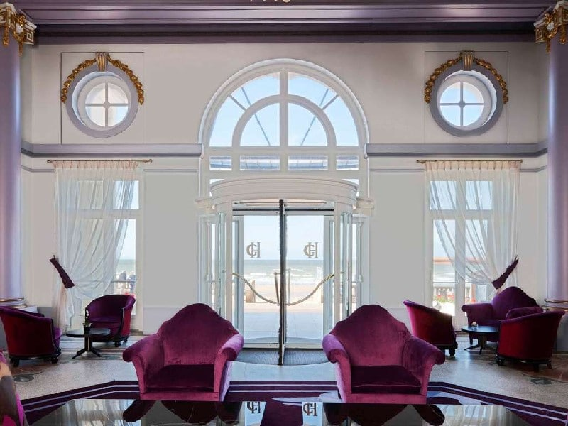 Hall d'entrée du Grand Hôtel de Cabourg