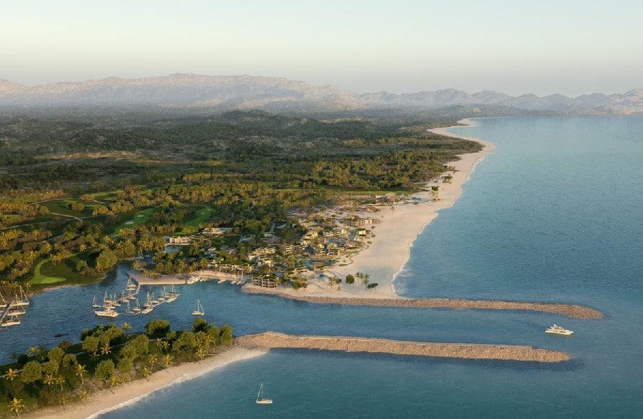 Le complexe du Four Seasons Resort Los Cabos à Costa Palmas au Mexique
