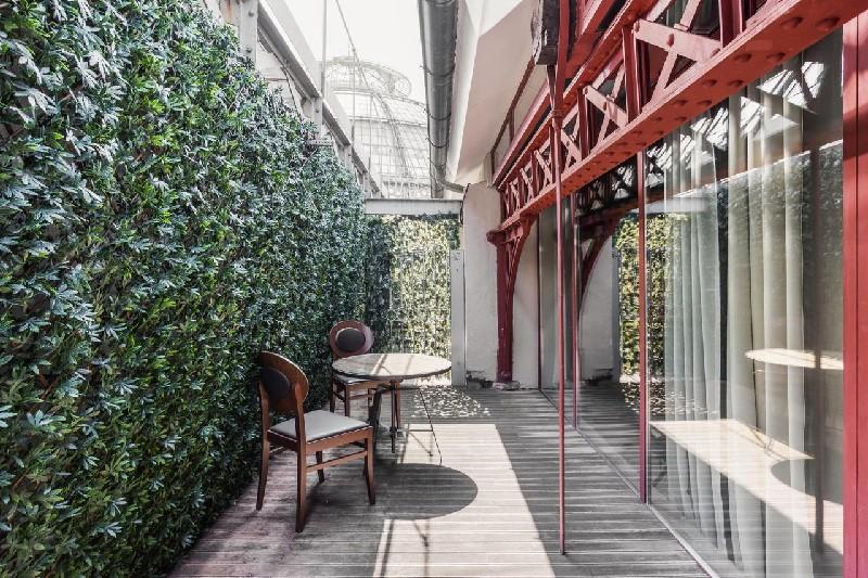 Une terrasse de chambre au Galleria Vik Milano
