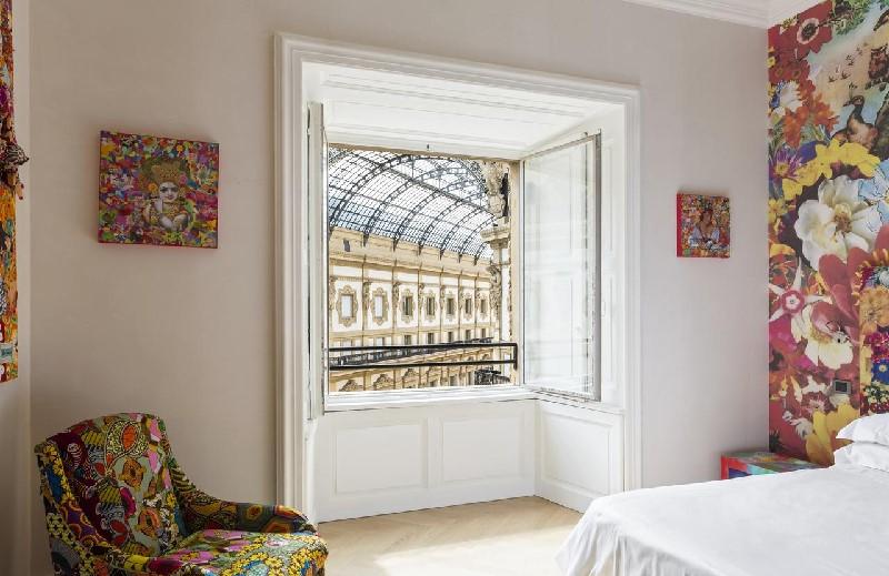 Vue d'une chambre sur la galerie au Galleria Vik Milano