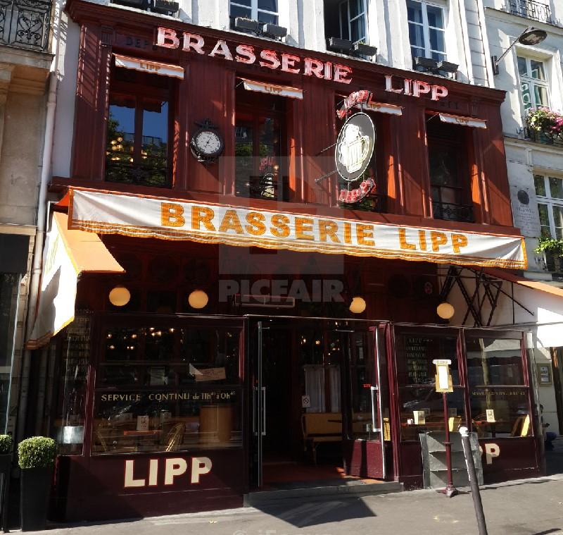 Brasserie Lipp, boulevard Saint-Germain
