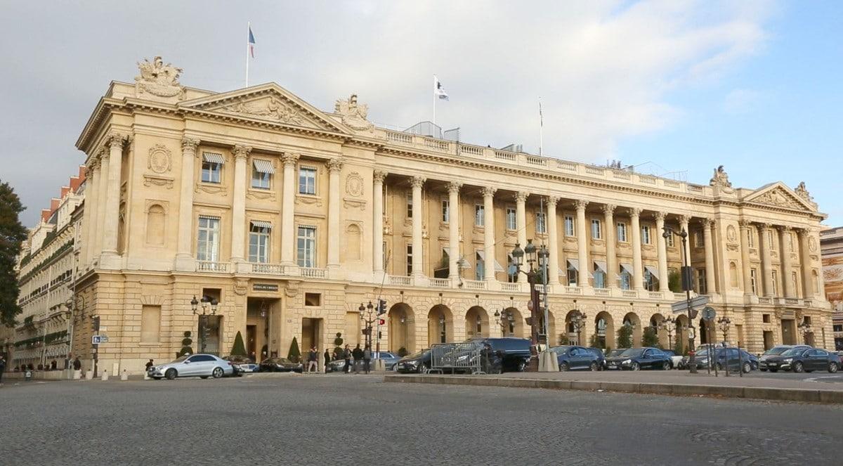 Hôtel de Crillon place de la Concorde à Paris