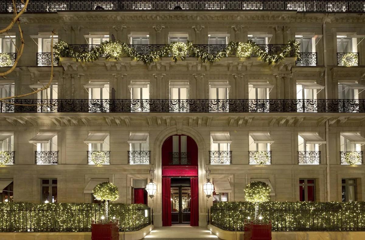 La Réserve Paris Hotel & Spa le soir