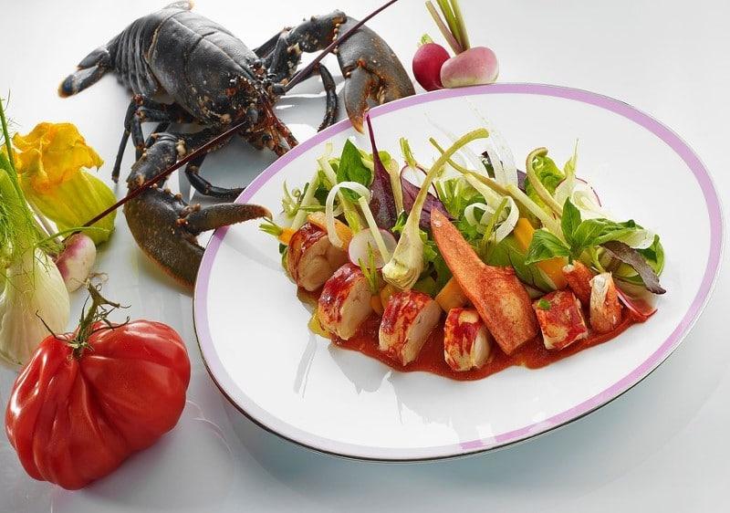 Salade de homard sauce salsa