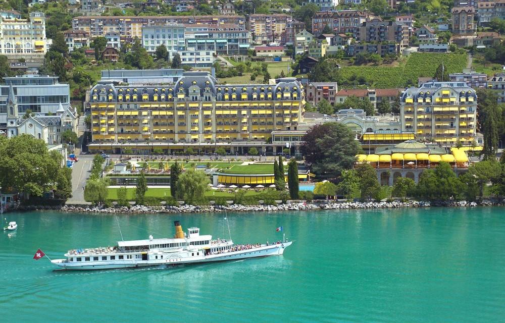 Vue du lac de l'hôtel Fairemont Le Montreux Palace