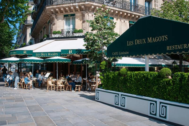 Les Deux Magots place Saint-Germain-des-Prés à Paris