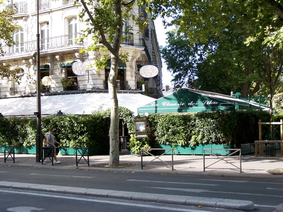 La Closerie des Lilas boulevard du Montparnasse à Paris