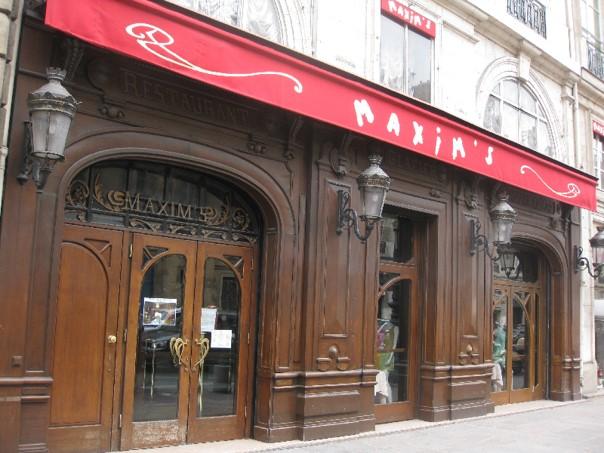 Restaurant Maxim's rue Royale à Paris