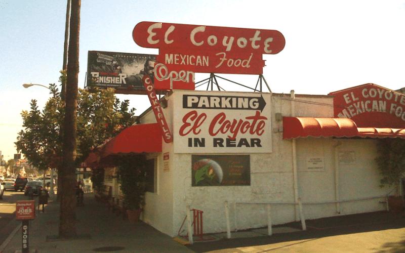 Le restaurant El Coyote Cafe sur le Beverly boulevard à Los Angeles