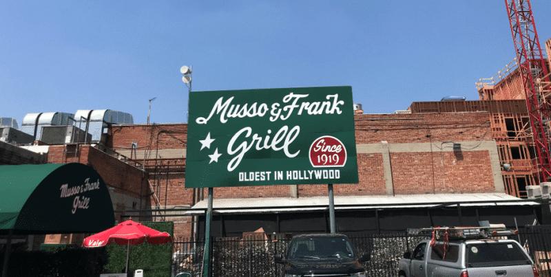 Le restaurant Musso & Franck sur Hollywood Boulevard à Los Angeles