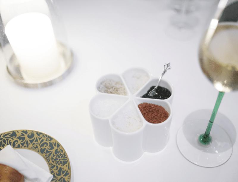 Différents sels de table