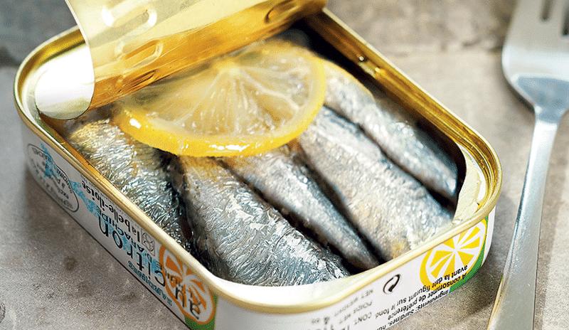 Boîte de sardines au citron