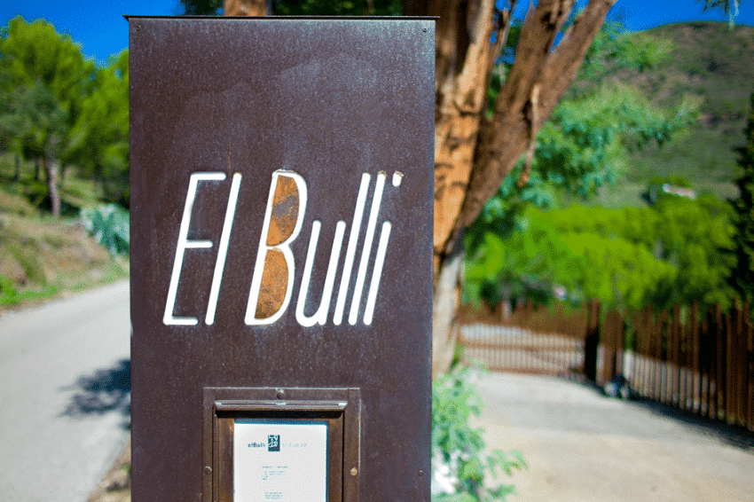 Enseigne et porte-menu du restaurant El Bulli à Roses